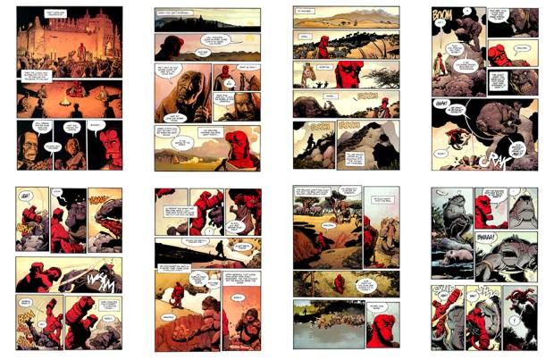 Hellboy: Makoma (the original art plates), Part 1, 24 pgs