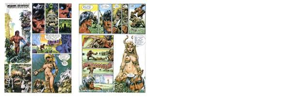 Tarzan: Chance Meeting!, 2 pgs