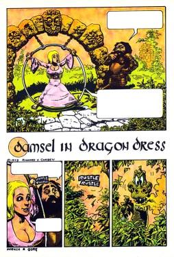 Damsel in Dragon Dress