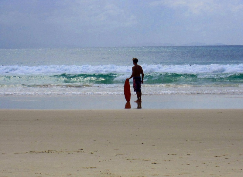 Surffari rannalla