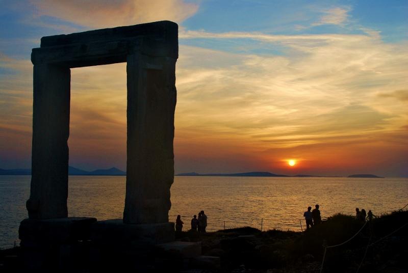 Naxos auringonlasku