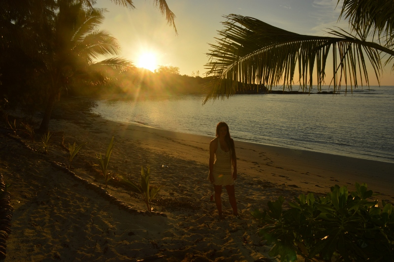Auringonlasku Fidzin Yasawa-saarilla