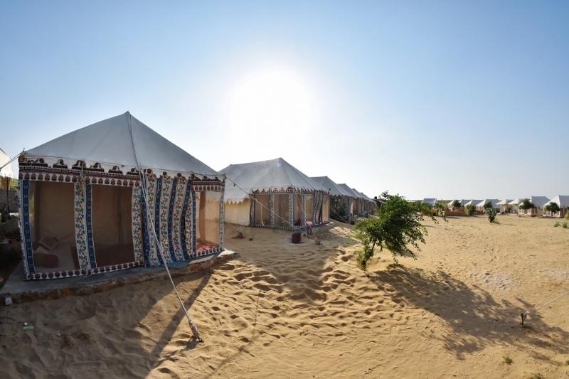 Luksusteltta Rajasthanin aavikolla
