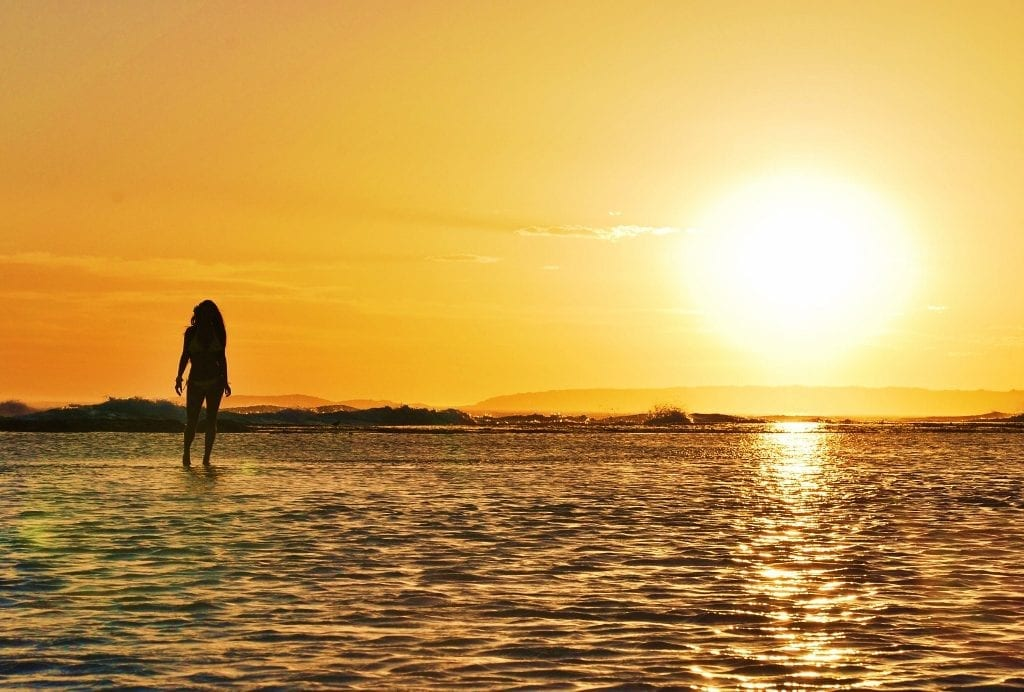 Auringonlasku Australiassa
