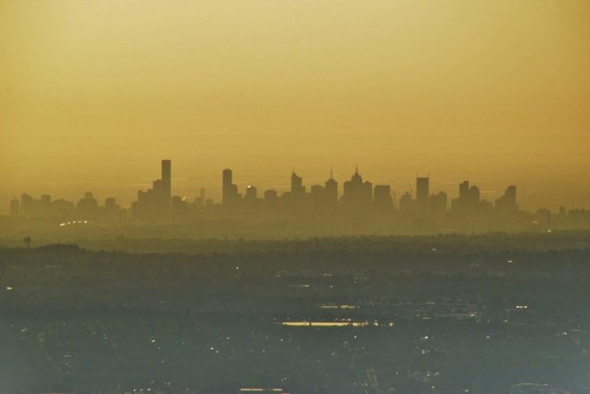 Melbournen kaupunki kaukaa