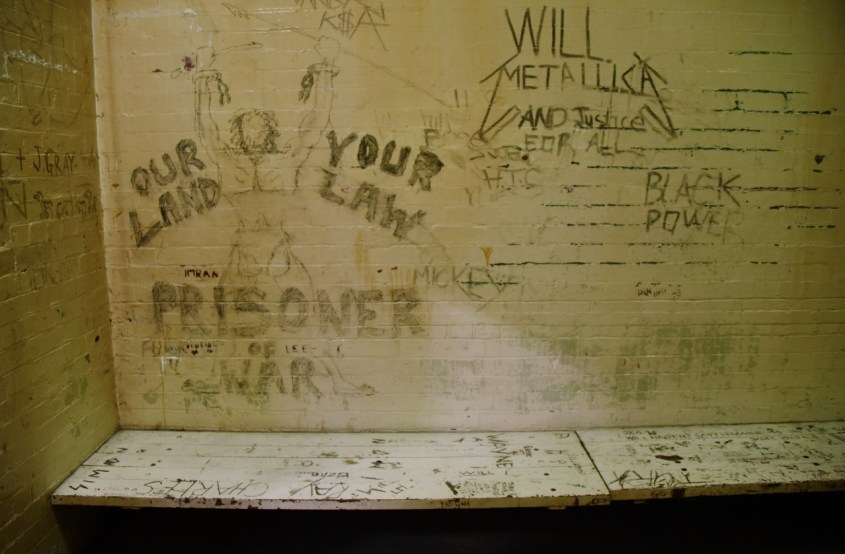 Graffiteja Old Melbourne Gaolin vankilassa