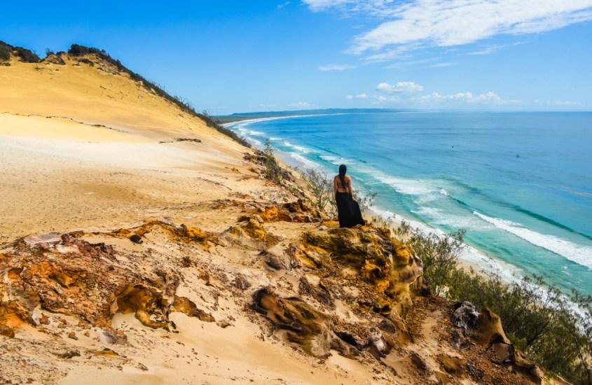 Australian Rainbow Beach – Hiekkadyynejä ja loputonta rantaviivaa