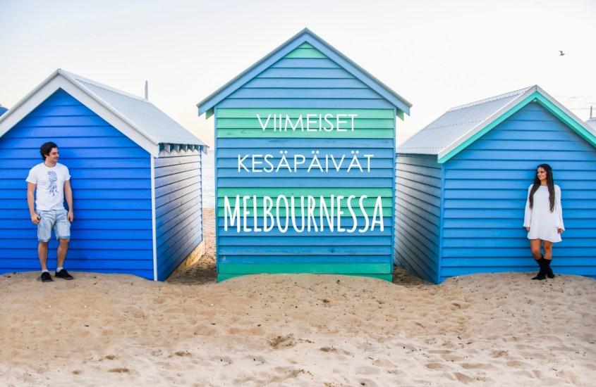Viimeisiä kesäpäiviä Melbournen Brighton Beachillä