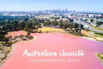Australian vaaleanpunaiset järvet