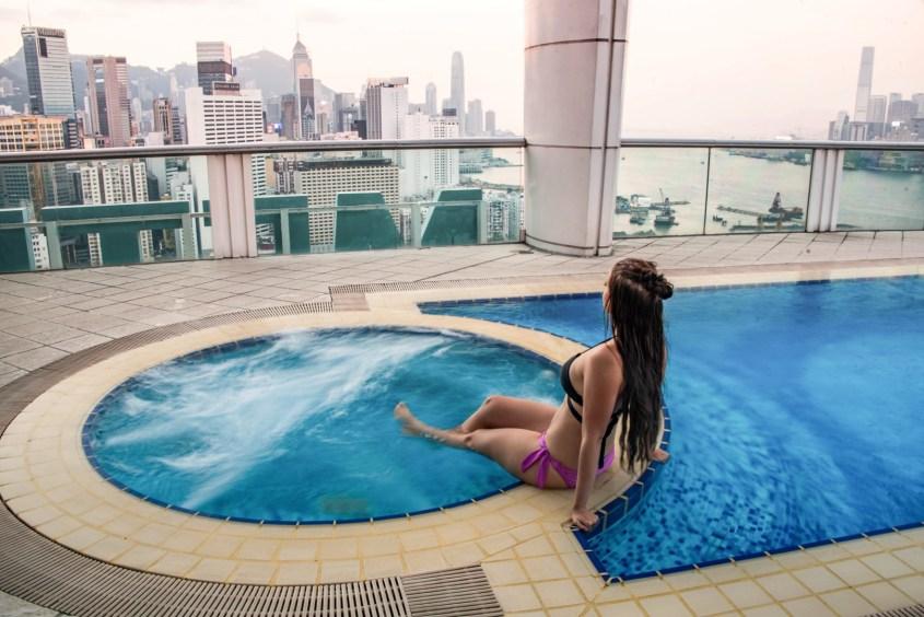 Hongkong kokemuksia | Kattoallas hotellissa.