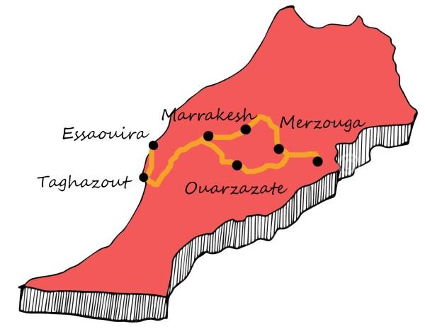 Autolla Marokossa