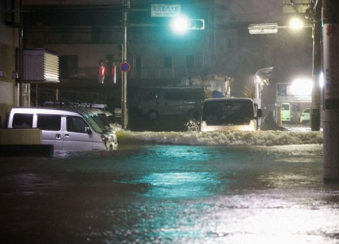 Millions of people across Japan told to evacuate homes due to Typhoon Hagibis 1