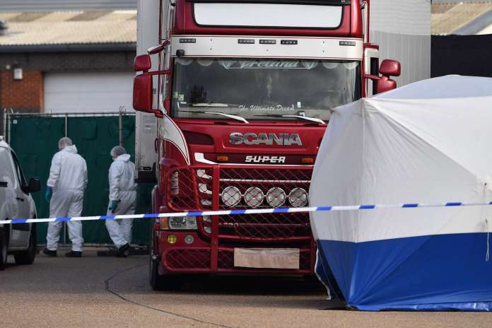 39 people found dead in truck container in southeast England 1