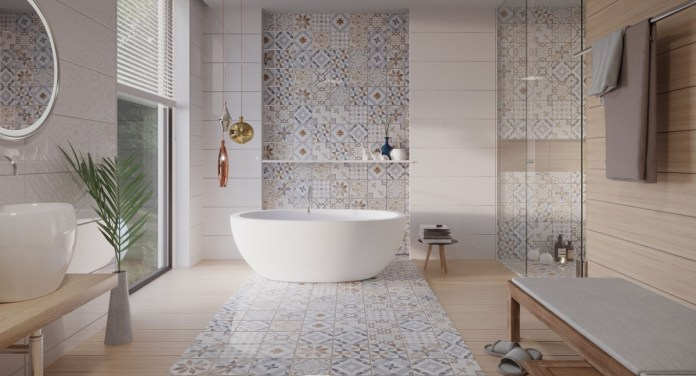 Guest bathrooms offer a place to have some fun with decor - изображение  на https://muvison.com