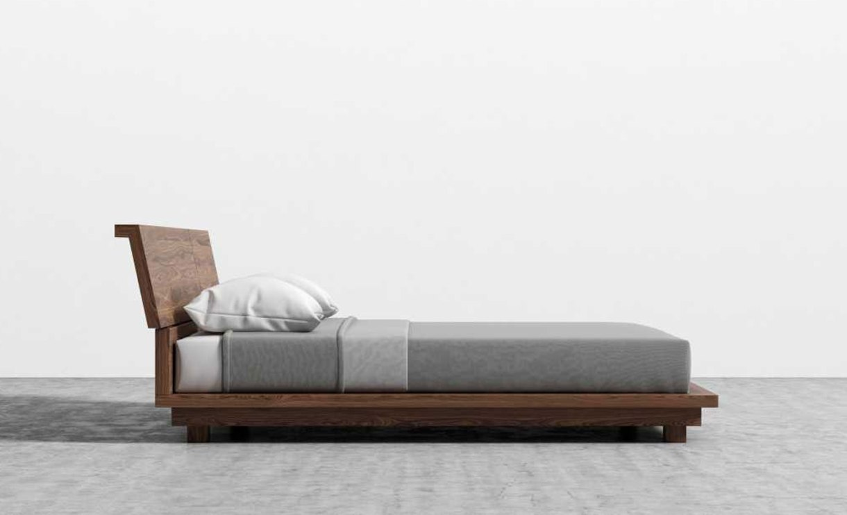 Hunter-Low-Profile-Bed-set-night-side-view