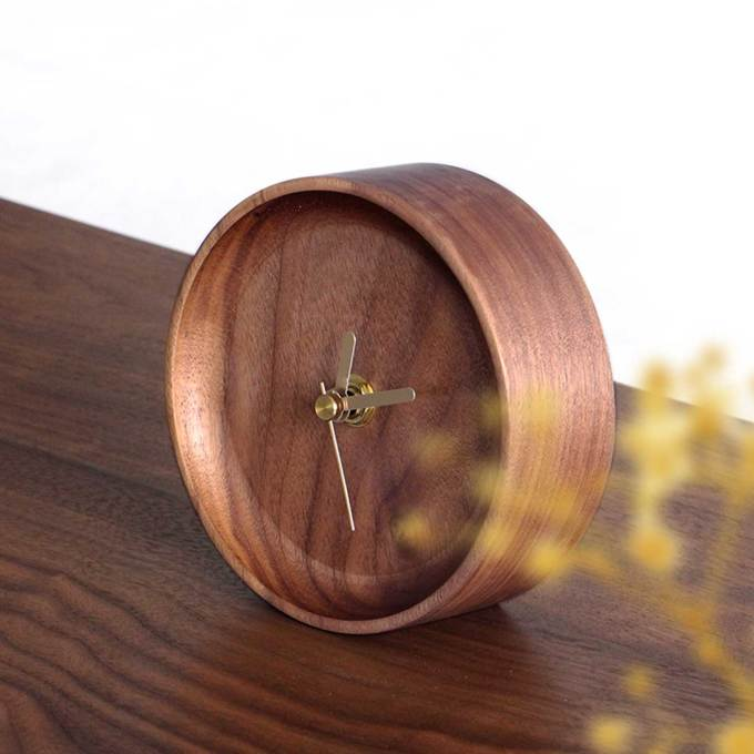 small-walnut-table-clock-back-on-table-side-view