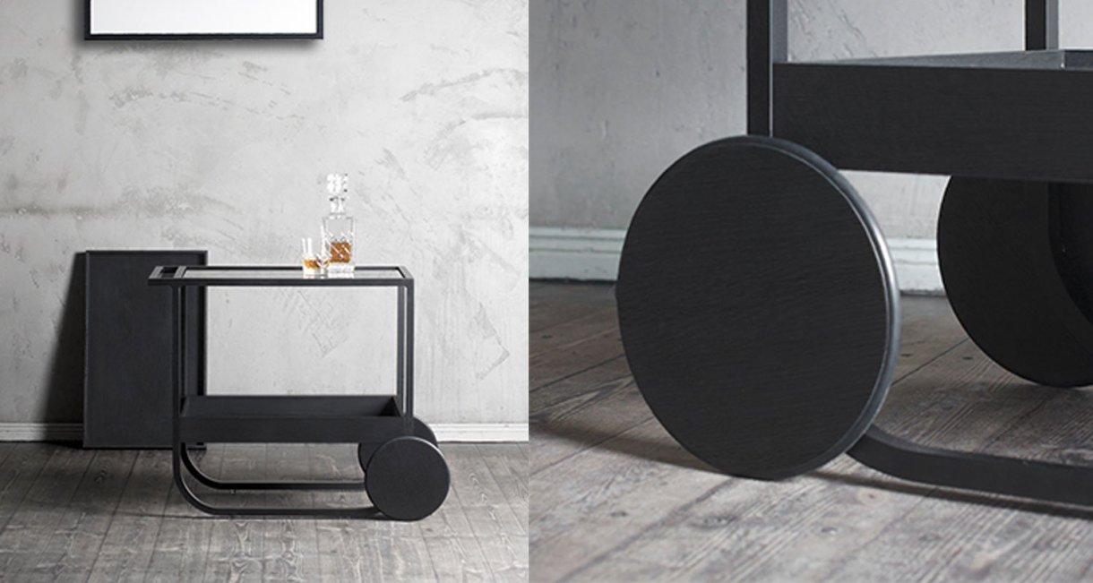 Servant-bar-cart-wood-wheels
