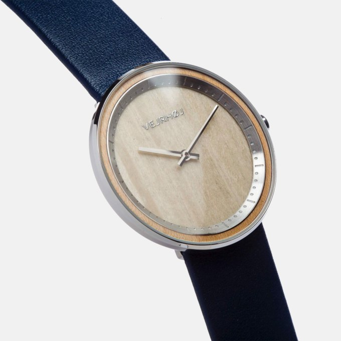 silver-front-wooden-watch-blue-strap-444