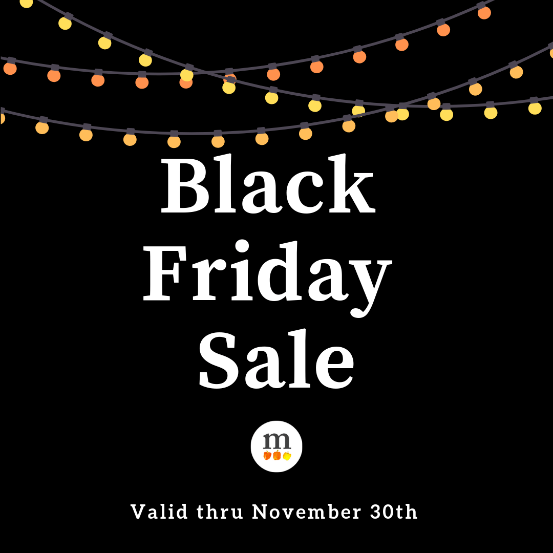 Black Friday Sale (valid through November 30, 2018)