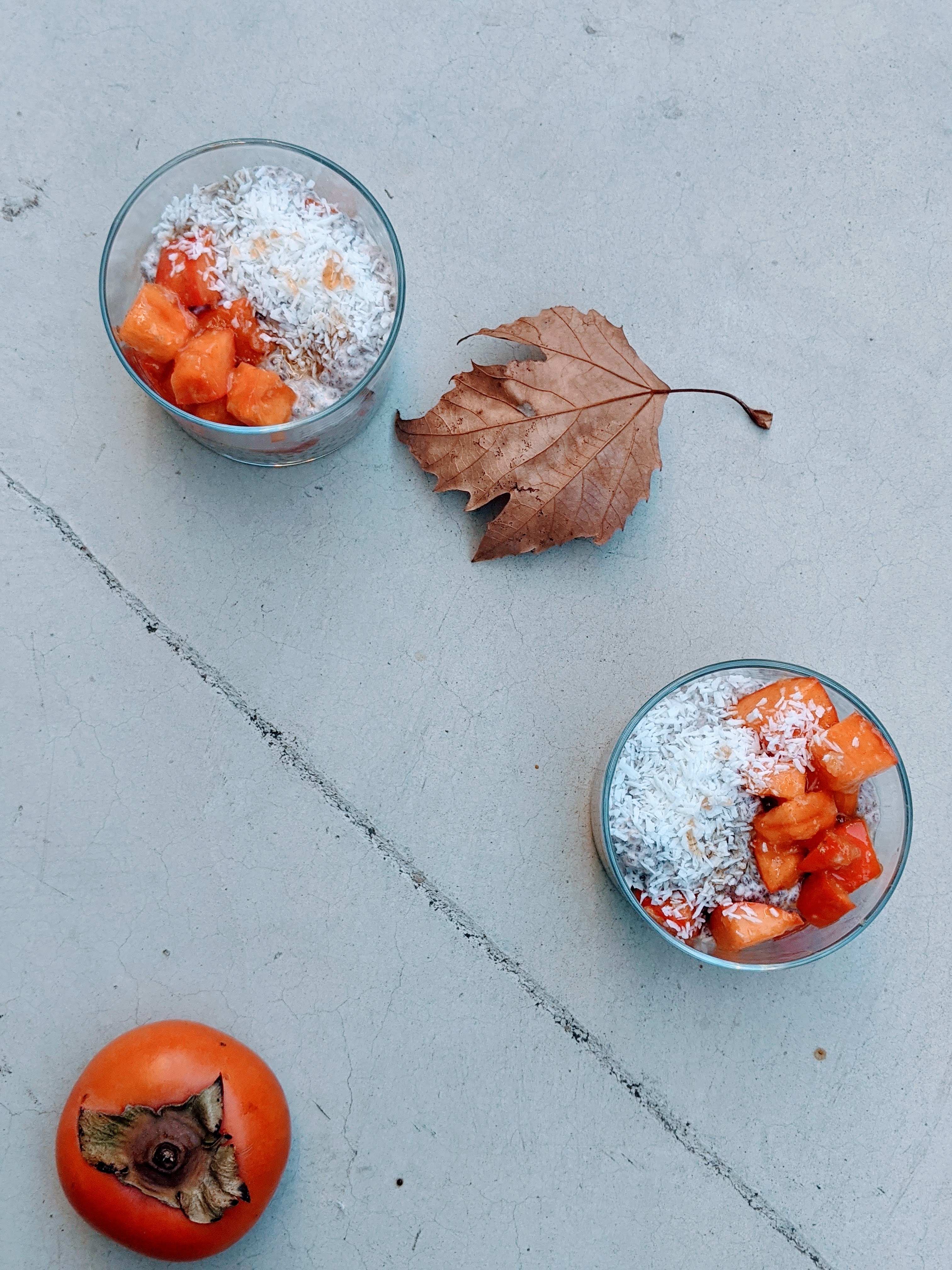 Persimmon Ginger Chia Pudding