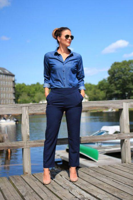 Colores Que Combinan Con El Azul Marino Mujer Novocom Top