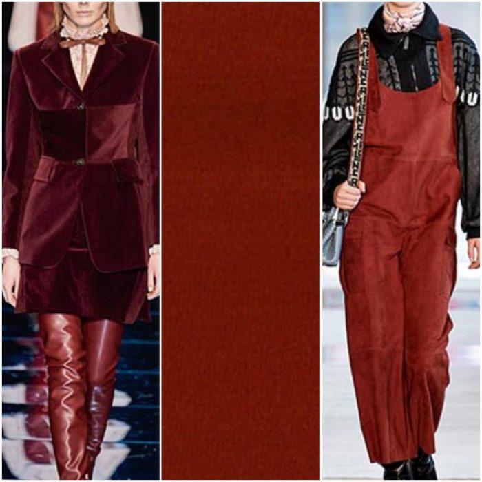 bordo marron color de moda otoño invierno 2021