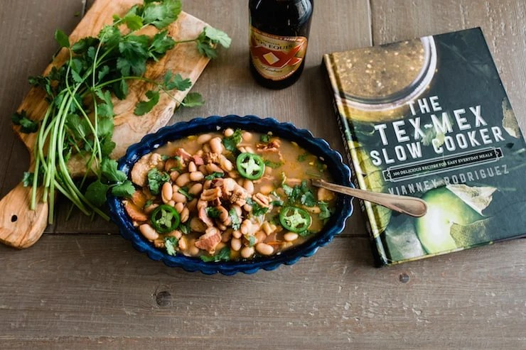 I am so excited to try this recipe from the Muy Bueno food blog that highlights a recipe found in The Tex-Mex Slow Cooker cookbook!  | photo: muy bueno cookbook