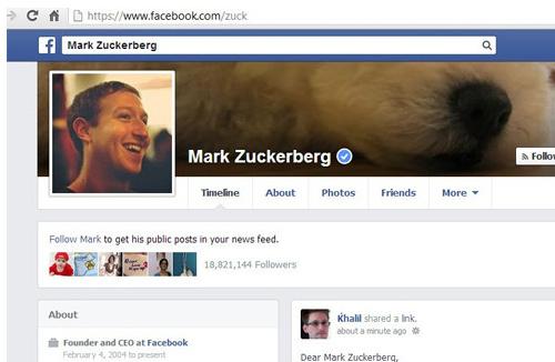 Facebook bug Investigador ridiculiza a Facebook hackeando la cuenta de Mark Zuckerberg