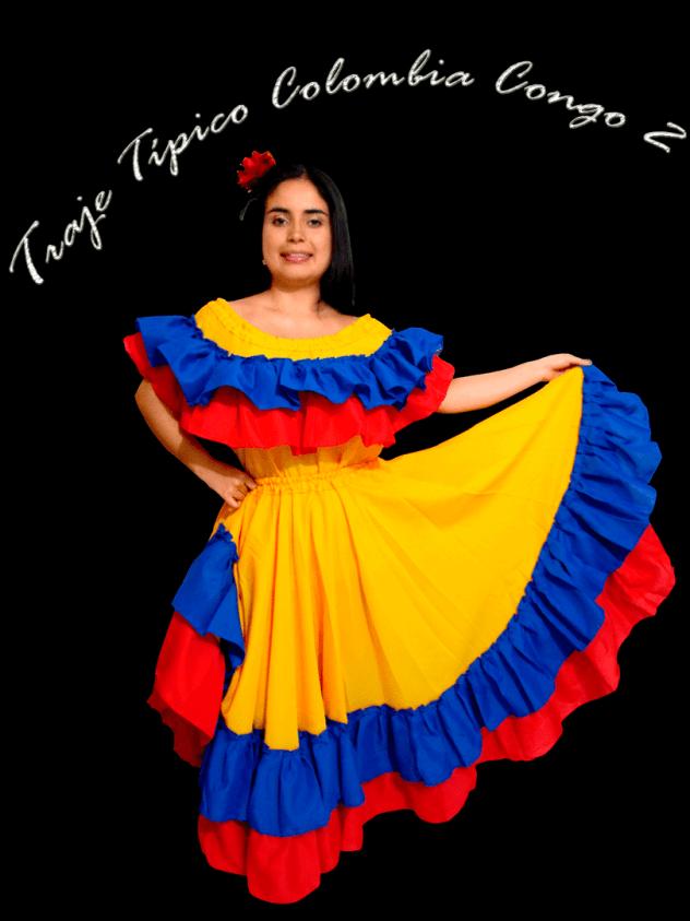 Traje típico Colombia dama