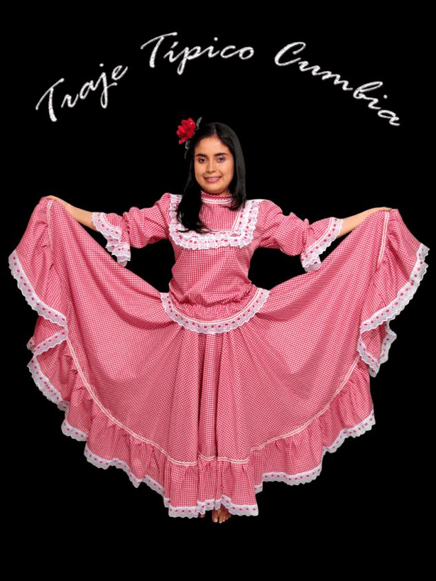 Traje típico Cumbia dama