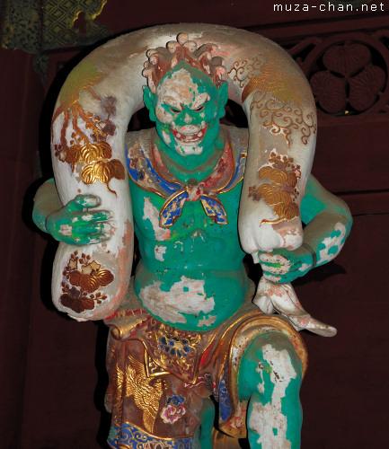 A statue of Fujin