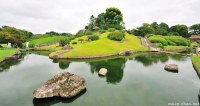 Japanese Gardens Attractions, Yuishinzan Hill from Koraku-en