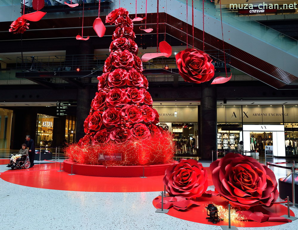 Merry Christmas Grand Front Osaka Red Rose Blossom