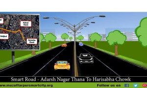 Muzaffarpur Smart City Road from Adarsh nagar thana to hari sabha Chowk
