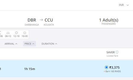 INDIGO FLIGHT FROM DARBHANGA