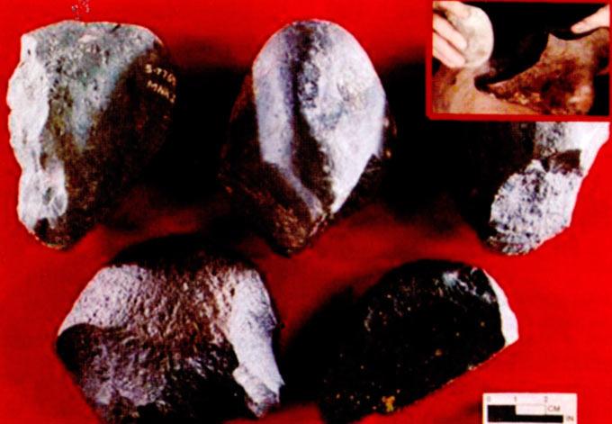 Пред 2.5 милиони години луѓето во Африка ги направиле првите алатки. Научниците ги викаат овие алатки олдовиански, според местото каде се ископани (во времето на australopitekinezerite и homo habilisot).