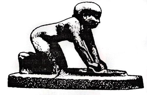 Рачно мелење (дробење) на жито - на камена плоча со притисок се тркала помал цилиндричен камен