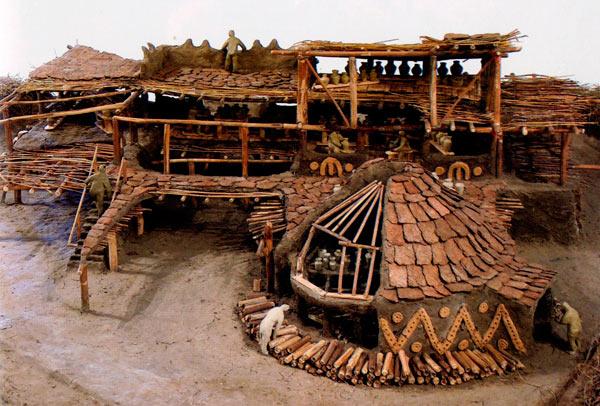 Реконструкција (макета) на грнчарската работилница од лок. Радоборска Тумба, 15в. пред н.е.