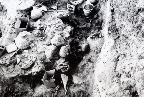 Керамика најдена во руините на грнчарската работилница во Радоборска Тумба