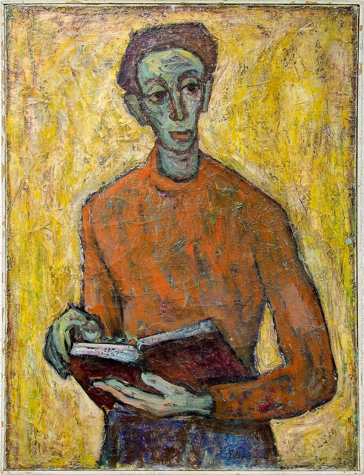 "Уметничка слика - ""Портрет"", современа уметност, автор Пецо Видимче"