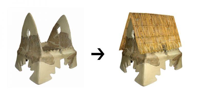 Жртвеник, керамички модел на куќа