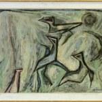 """Artistic painting """"Birds"""" – contemporary art, author Metodija Ivanovski"""