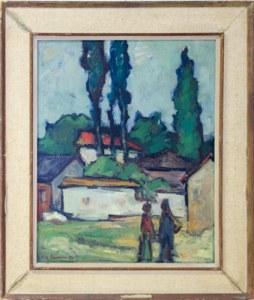 """Уметничка слика –""""Пејзаж""""- современа уметност, автор Љубодраг Маринковиќ Пенкин"""