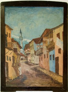 "Art Painting ""Jewish alley"" – Contemporary Art, author Metodij Lepavcov"