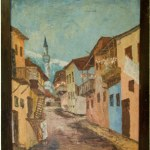 "Art Painting ""Jewish alley"" – Contemporary Art, author Metodij Lepavcov"