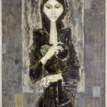 "Уметничка слика ""Зима""- современа уметност, автор Димитар Кондовски"