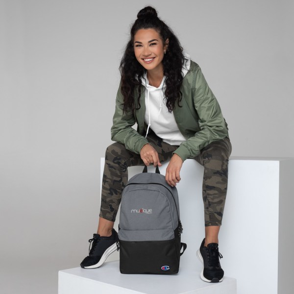 champion backpack heather grey black 5ff5eb6ae1168