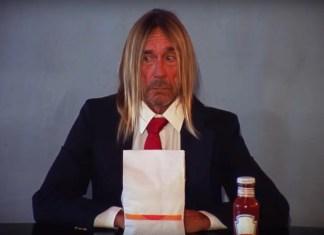 Iggy Pop je burgera w wideo Death Valley Girls