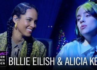 "Billie Eilish i Alicia Keys śpiewają ""Ocean Eyes"""