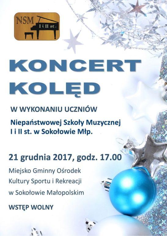 2017-12-21 Koncert kolęd Sokołów